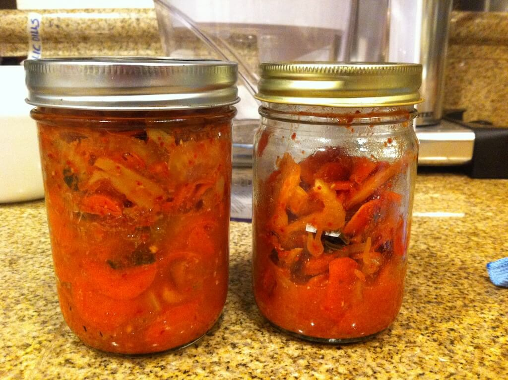 Kitchen sink kimchi, after 13 days fermentation