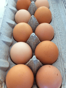 Pastured, unwashed eggs